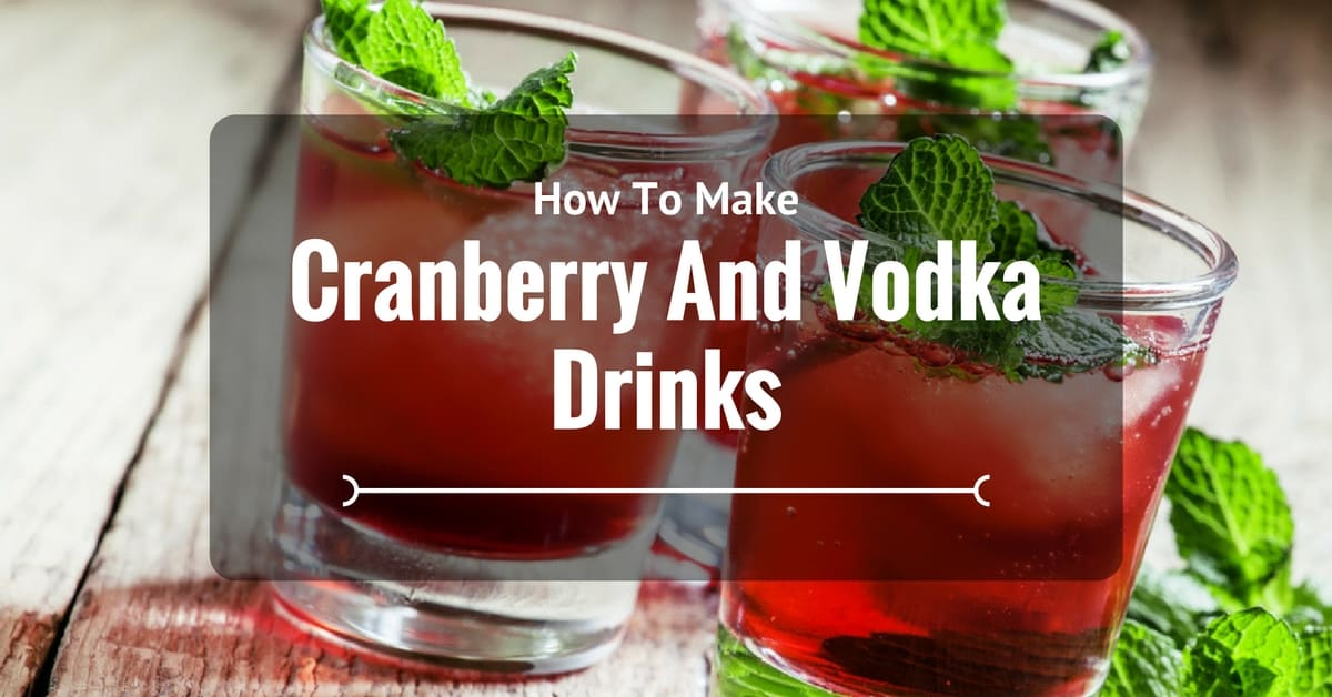 How To Make Cranberry And Vodka Drinks Like A Pro